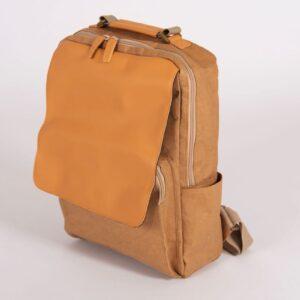 laptop backpack, tan